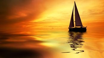 sailing-ship-sunset