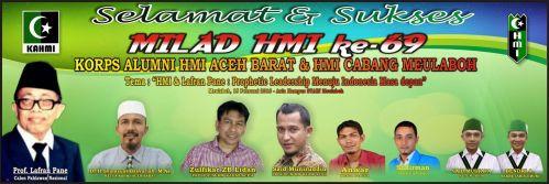 "SEMINAR LAFRAN PANE. Seminar ""HMI dan Lafran Pane: Prophetic Leadership Menuju Indonesia Masa Depan"", Aula STAIN Tgk. Dirundeng Meulaboh (Senin, 15/02/2016)."