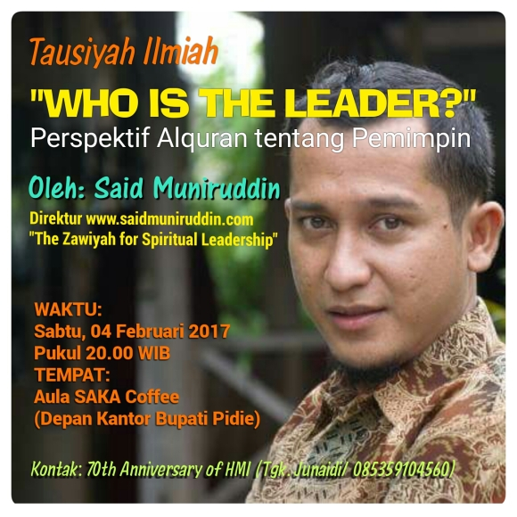 """WHO IS THE LEADER?"" - Sampai bertemu di Pedir."